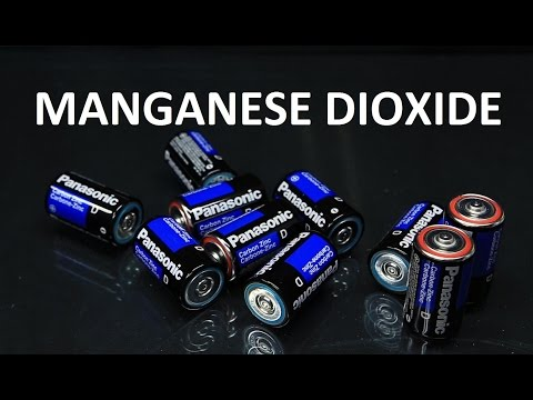 Getting Manganese Dioxide, Zinc and Carbon from Batteries
