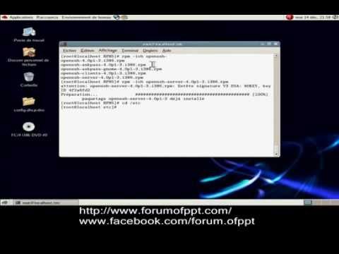 Installation et configuration serveur SSH sous Linux  Fedora    YouTube