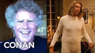 Will Ferrell Doesn't Feel Self-Conscious In A Leotard - CONAN on TBS