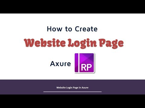 Axure RP Login Page Website