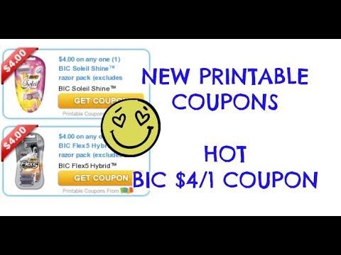 NEW PRINTABLE COUPONS | $4/1 BIC RAZOR | PRINT NOW!!!