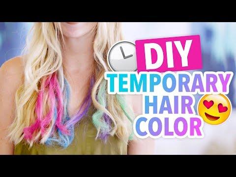 DIY Temporary Hair Color with Soft Pastels - HGTV Handmade