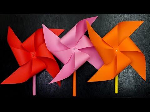 DIY :  Paper Windmill