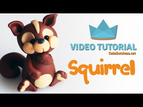 How to make a cute Squirrel Cake Topper - Cake Decorating Tutorial