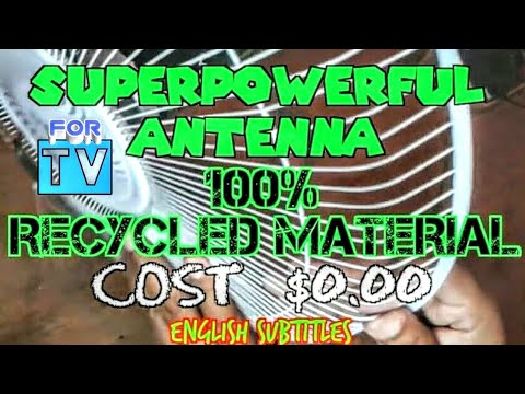 ANTENNA HDTV MADE AT HOME 100% Waste Material // Antena HD Casera costo $ 0.00