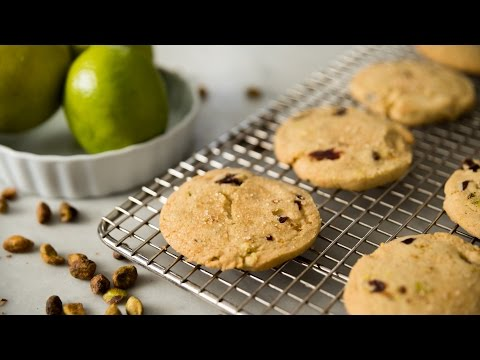 Dried Cherry, Pistachio + Lime Refrigerator Cookies | January Cookie of the Month