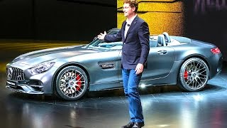 Mercedes AMG GT C Roadster Edition 50 Review Geneva Reveal New AMG GTC Roadster 50 Geneva Video 2017