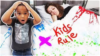 Spray Painting Prank On Mommy While Sleeping 💤