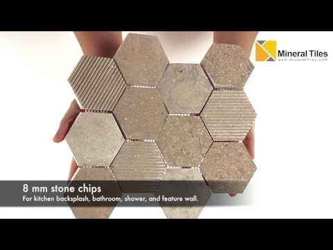Hexagon Limestone Mosaic Tile Beige - 230YS1506P