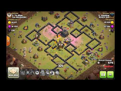 CLASH OF CLANS- TH9 LALOON STRATEGY 3 STAR... WAR STRAT...