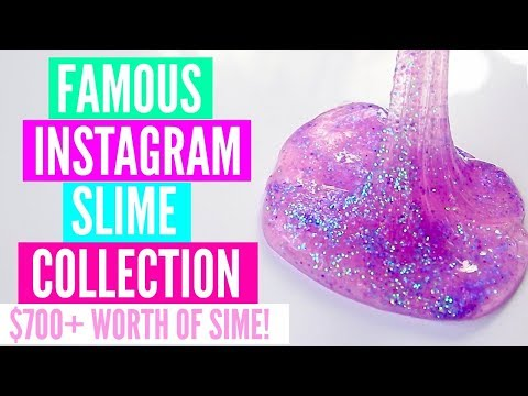 $700+ FAMOUS Instagram Slime Collection// HUGE GLITTER.SLIMES SLIME COLLECTION + MORE!