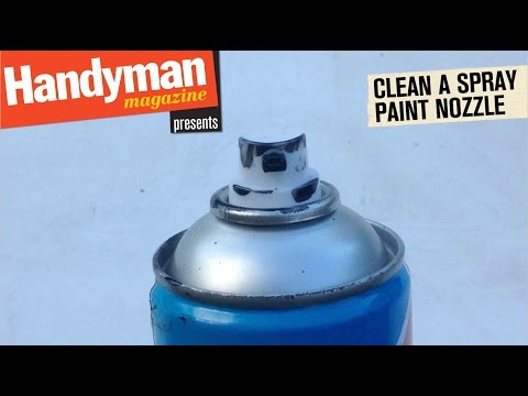 How To Clean A Spray Paint Nozzle