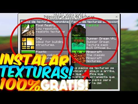 COMO INSTALAR TEXTURAS Y SKINS! GRATIS Minecraft PE 1.4 TEXTURE PACKS GRATIS
