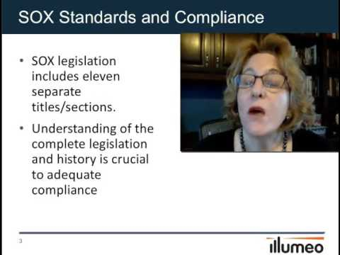 SOX Standards/Compliance Certificate