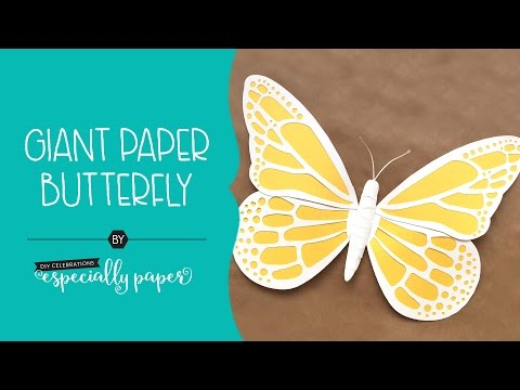How to Make a Giant Paper Butterfly