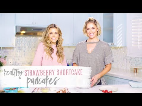 Healthy Strawberry Shortcake Pancake Recipe ~ Love Your Body Series!