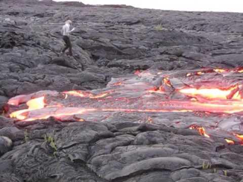 Kilauea Surface Flow Oct 15 09