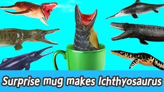 [EN] Surprise mug makes lchthyosaurus! kids counting numbers, dinosaurs names, collectaㅣCoCosToy