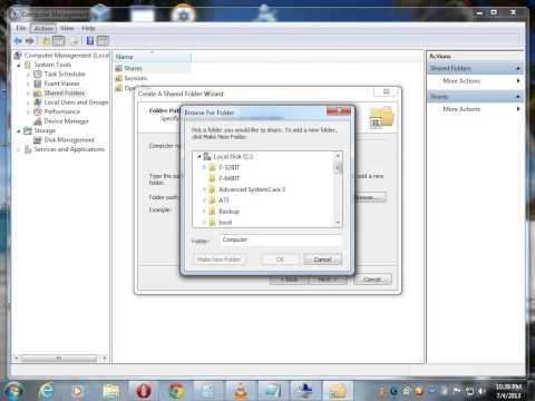How To Share Folders In Windows 7