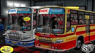 Kerala SRTC venad bus skin for proton bus simulator