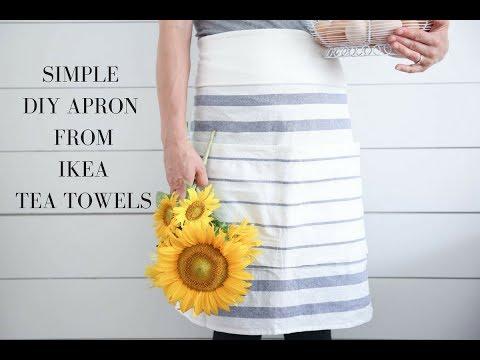 How to Make an Apron with IKEA tea towels