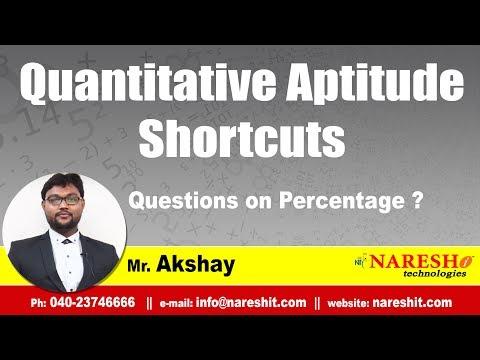 Questions on Percentage ? | Quantitative Aptitude Tricks and Tips | Mr. Akshay