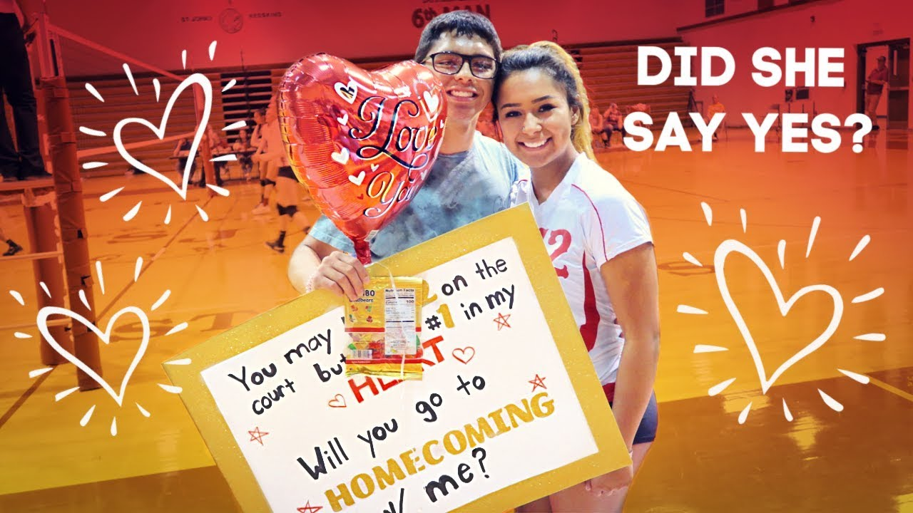 WILL SHE SAY YES TO HOMECOMING? | HOMECOMING PROPOSAL