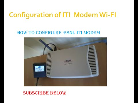 How to Configure BSNL WIFI Modem ITI DNA- A211-I