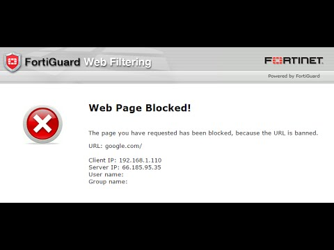 Allow full access on website to users from fortigate 100d Firewall