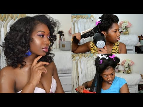 Straight Hair Routine + Sultry, Bouncy Curls | 4b Natural Hair | Start to Finish feat Ali Julia Hair