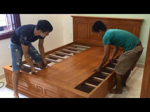 Amazing Woodworking Skills Excellent - Build A King Size Bed Fast and Beautiful, How To, DIY