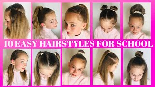 10 QUICK EASY HAIRSTYLES FOR SCHOOL,XCJMV - ViralHub