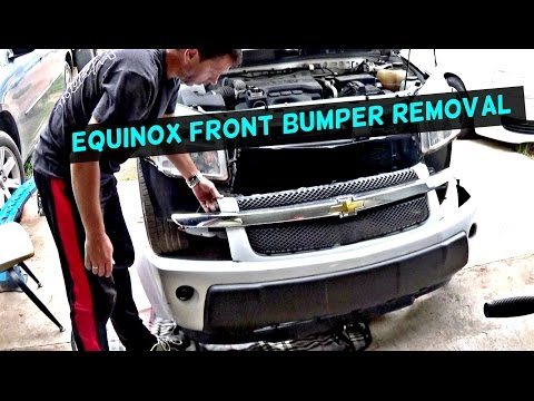 CHEVROLET EQUINOX FRONT BUMPER COVER REMOVAL AND REPLACEMENT 2005 2006 2007 2008 2009