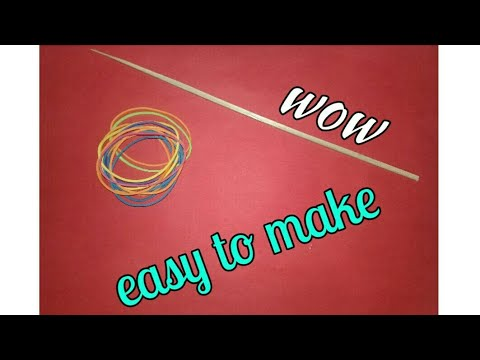 3 simple toy made with stick and rubber bands(NICE jet Tv)