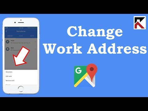 How To Change Your Work Address Google Maps iPhone