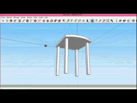 Make a simple chair in SketchUp