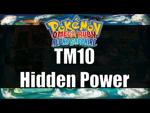 Pokemon Omega Ruby & Alpha Sapphire - Where to get TM10 Hidden Power