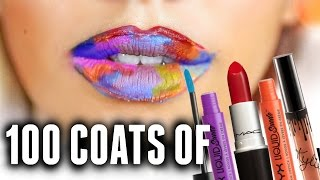 100+ COATS OF LIPSTICK