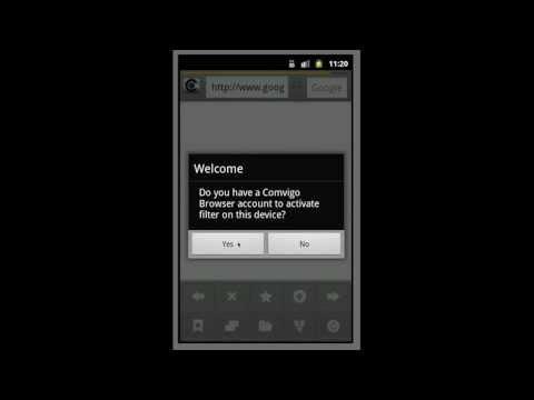 Android Internet Filter Browser Activation - Comvigo