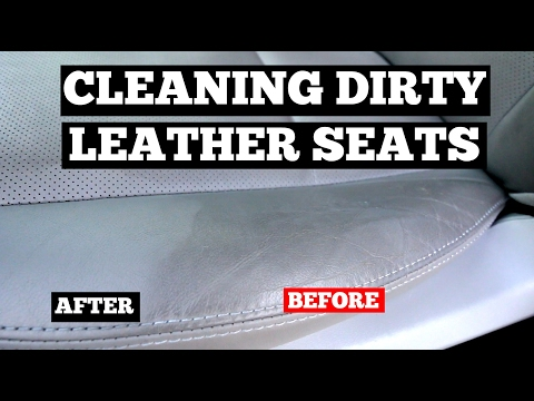 How To Clean DIRTY Leather Car Seats- Interior Car Cleaning Tips