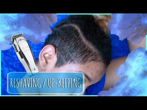 HOW I MAINTAIN MY SHAVED SIDES/ RESHAVING