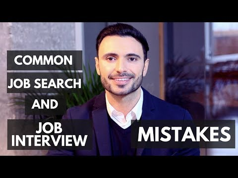 Common Job Interview Mistakes and Job Search Right or Wrong