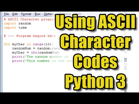 Working with ASCII Character Codes in Python 3
