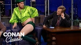 "Will Ferrell Stops By ""Late Night"" Dressed Like A Sexy Leprechaun - ""Late Night With Conan O'Brien"""