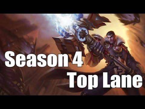 Best Top Lane Champions [Season 4: League of legends]