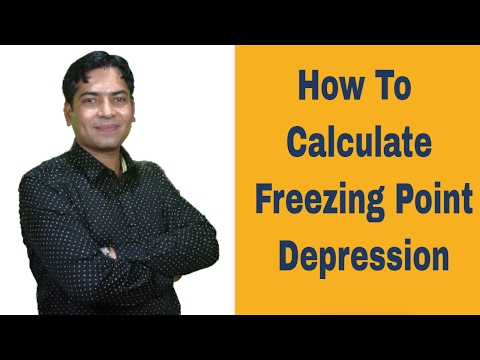 How To Calculate The Freezing Point Depression