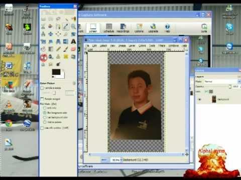 How to delete copyright logo off school photos.