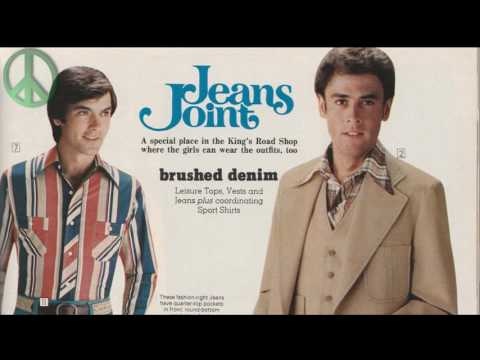 Most popular and trend's retro men's style 1970's. 70's vintage clothing style