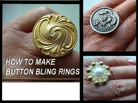 MAKE A BUTTON BLING RING, recycle project