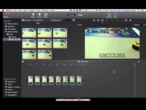 iMovie 10 Remove Ken Burns + Change clip duration (stop motion)